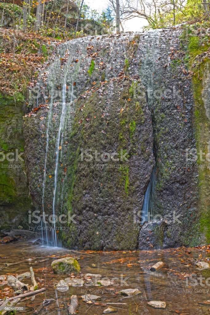 Quiet Falls in the Forest royalty-free stock photo
