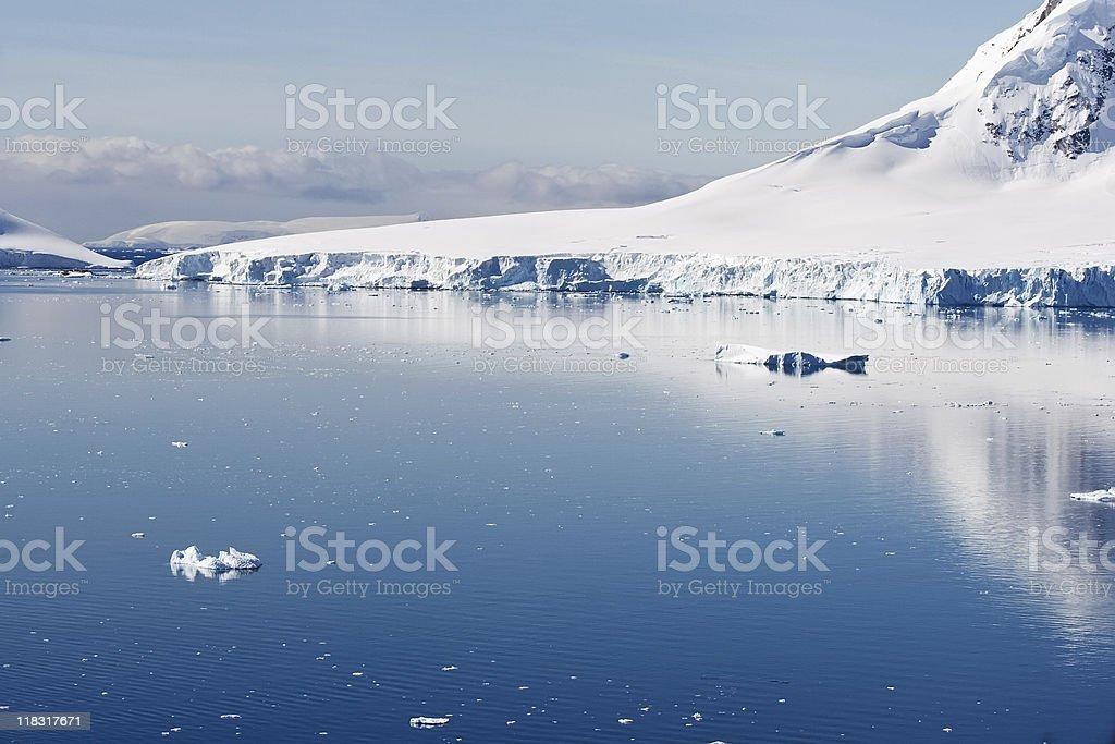 quiet glacial scene royalty-free stock photo
