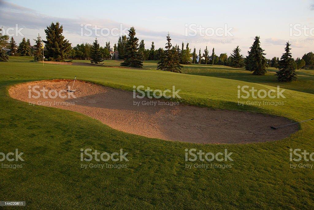 Quiet Golf Green royalty-free stock photo