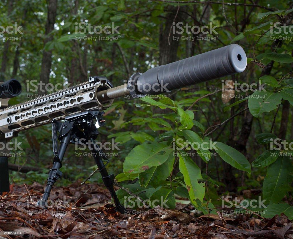 Quiet gun stock photo