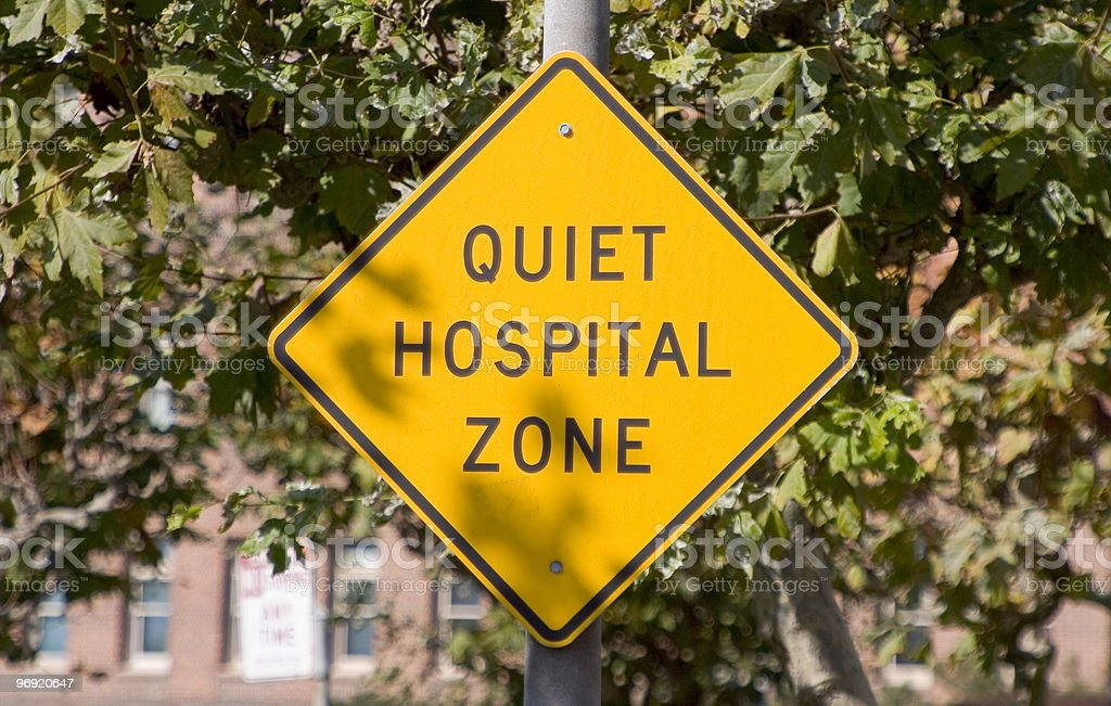 Quiet Hospital Sign royalty-free stock photo