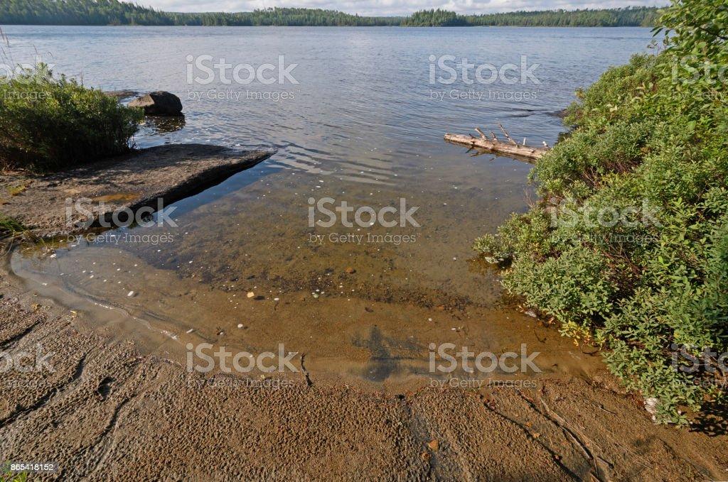 Quiet Inlet in the Wilderness stock photo
