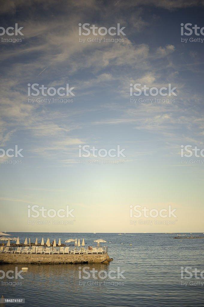 Quiet Mediterranean Bar at Dusk royalty-free stock photo