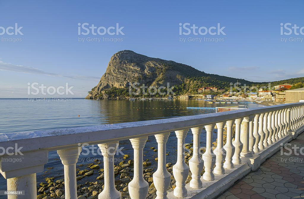 Quiet morning in a small resort town. royalty-free stock photo