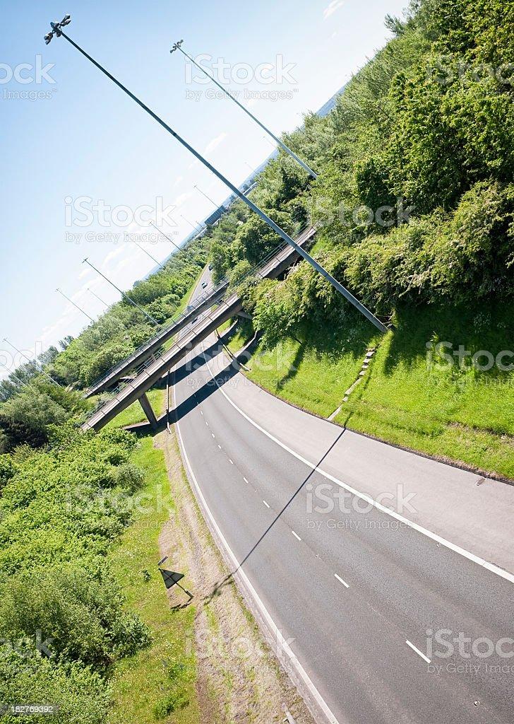 Quiet Motorway royalty-free stock photo