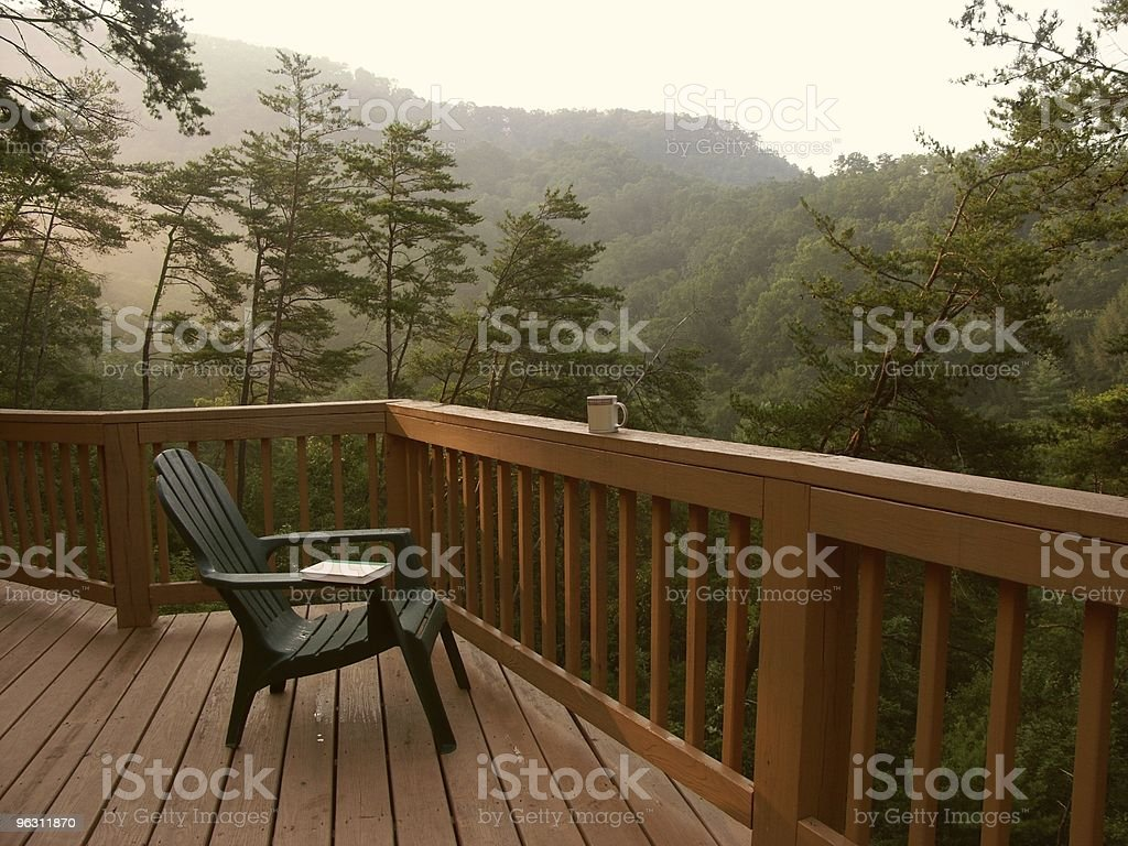 Quiet Mountain Morning stock photo