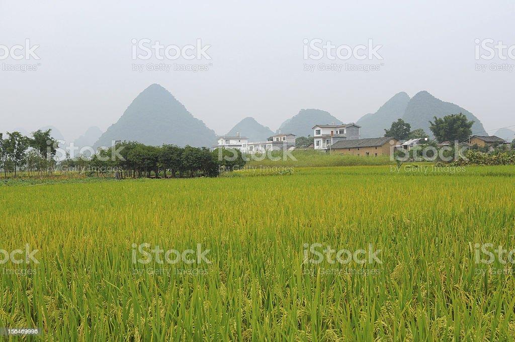 Quiet Mountain Village royalty-free stock photo
