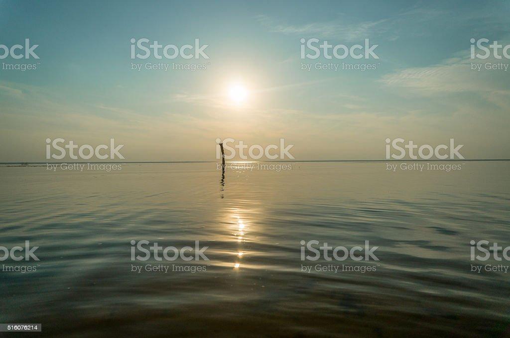 quiet on sunset stock photo