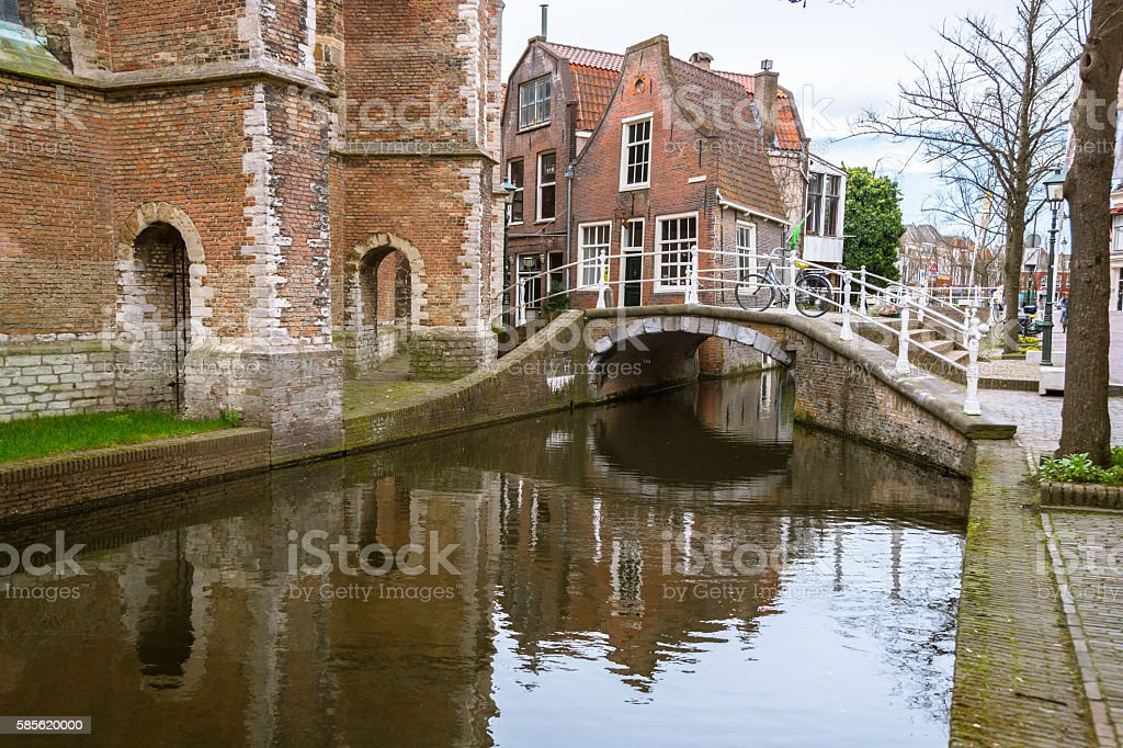 Quiet Place in Delft stock photo