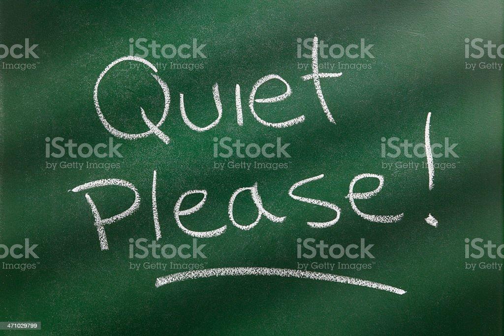 Quiet please! royalty-free stock photo