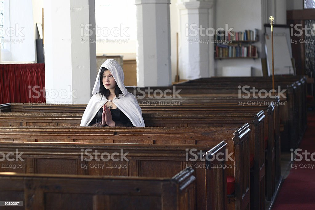 Quiet prayers royalty-free stock photo