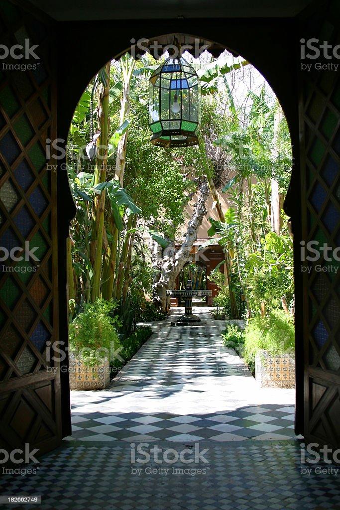 Quiet Riad stock photo