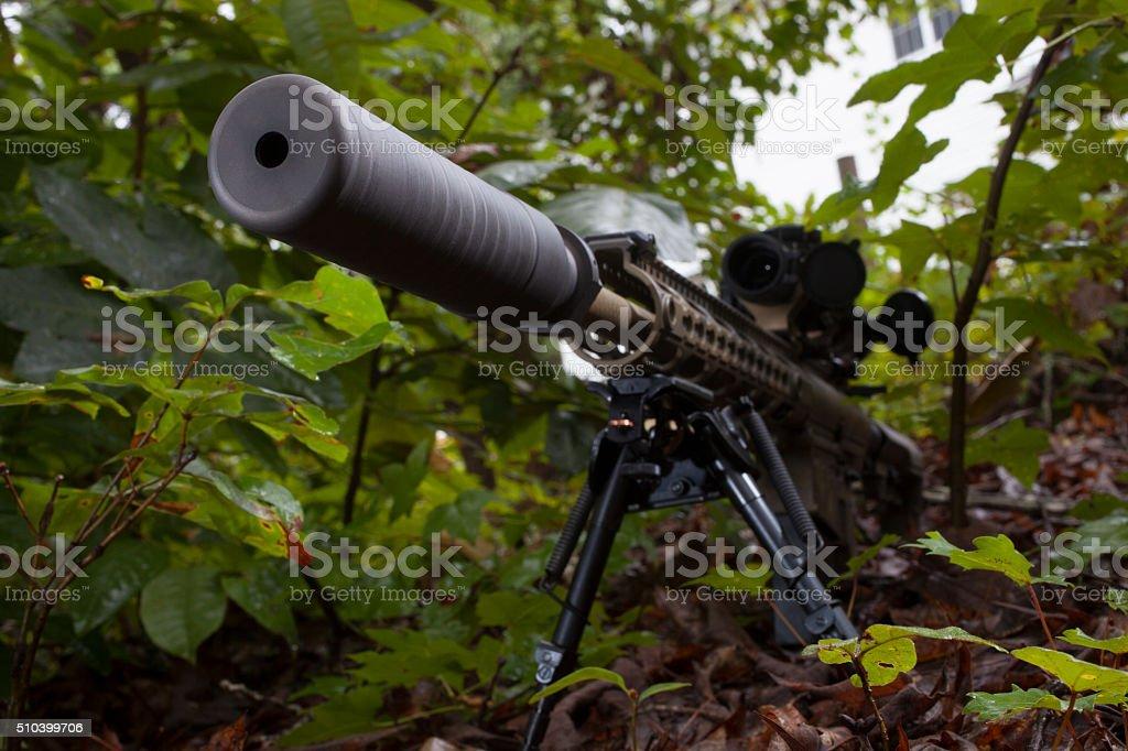 Quiet rifle stock photo