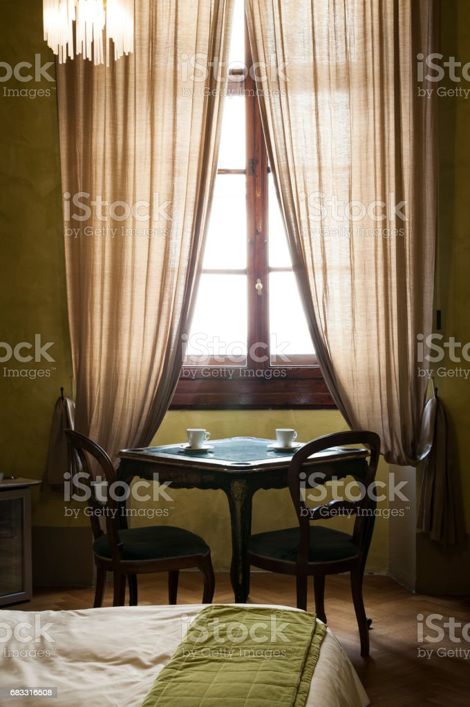 Quiet room of an inn.  Florence, Italy foto stock royalty-free