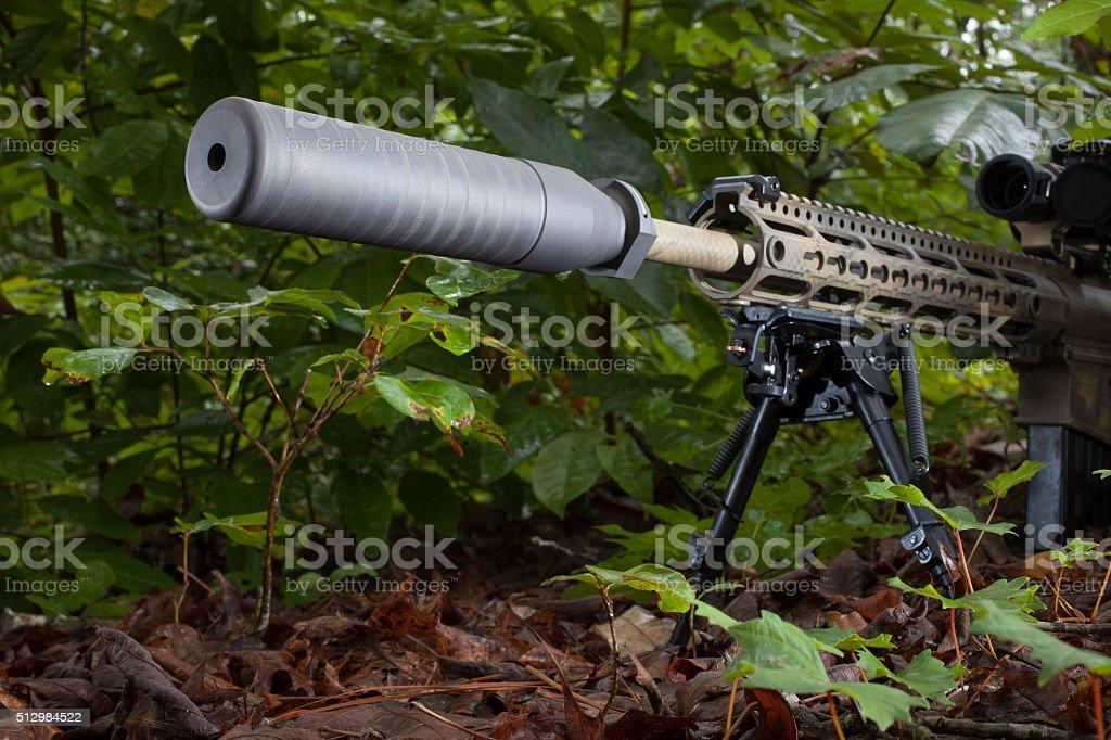 Quiet shooter stock photo