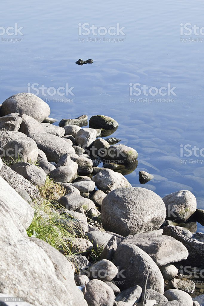 Quiet shores on the lake stock photo