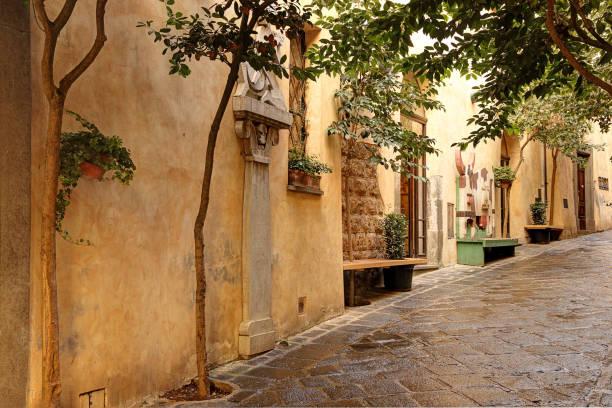 Ruhigen Straße in Orvieto, Italien – Foto