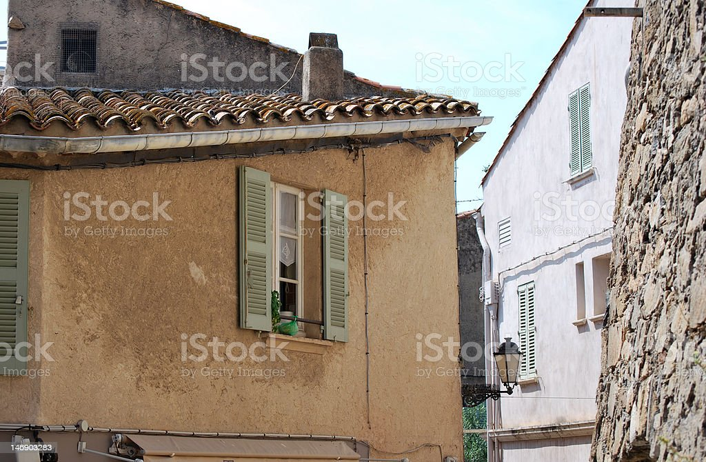Quiet Street in Provence 2 stock photo