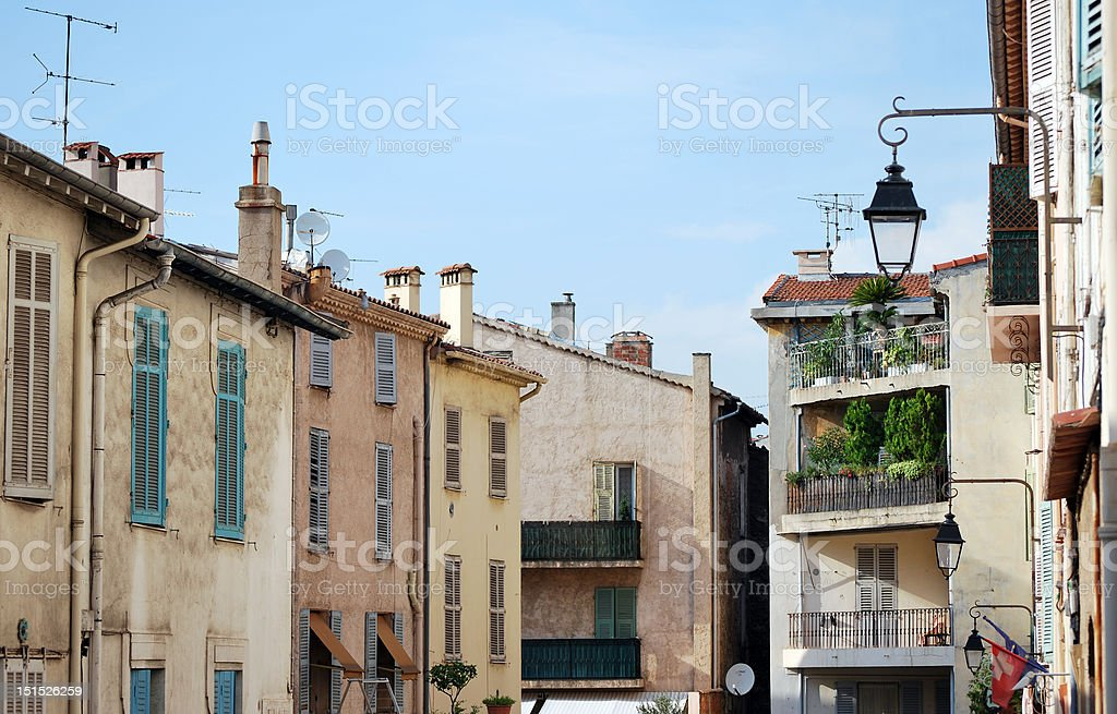 Quiet Street in Provence stock photo