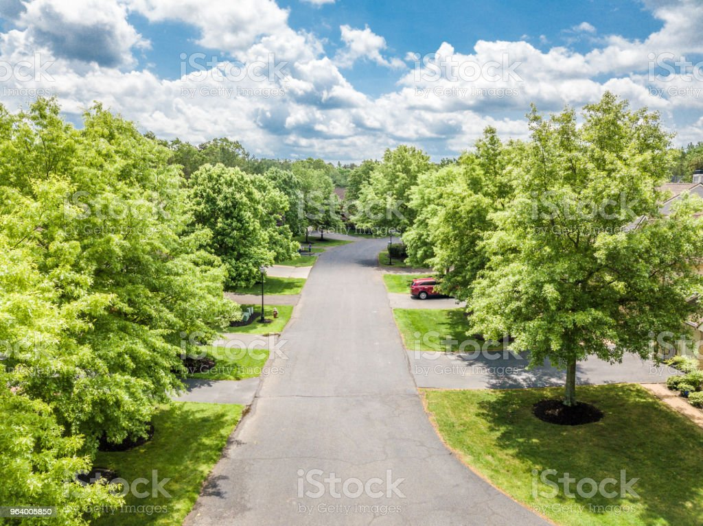 Quiet street in small american town - Royalty-free Architecture Stock Photo