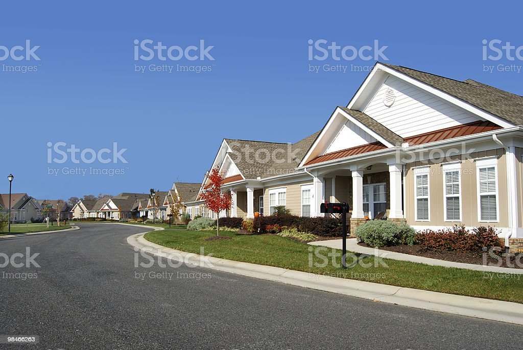 Quiet Street royalty-free stock photo