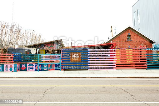 istock Quiet streets and some temporarily closed businesses in Denver 1219098249