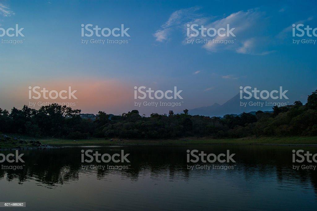 Quiet sunset at Carrizalillos lake Lizenzfreies stock-foto