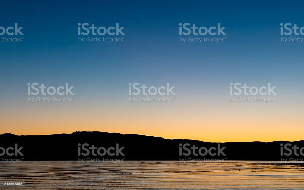Quiet Sunset royalty-free stock photo