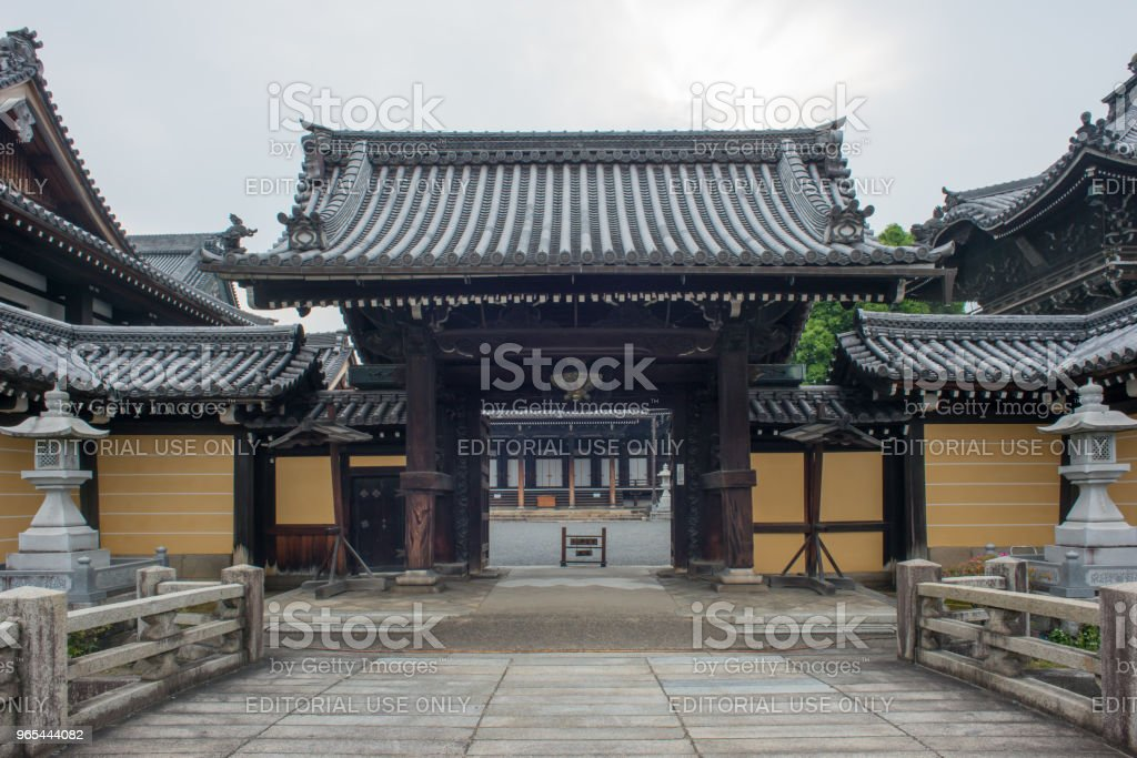 Quiet temple after tourists leave - Kyoto, Japan royalty-free stock photo