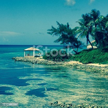 A quiet lagoon in the Caribbean