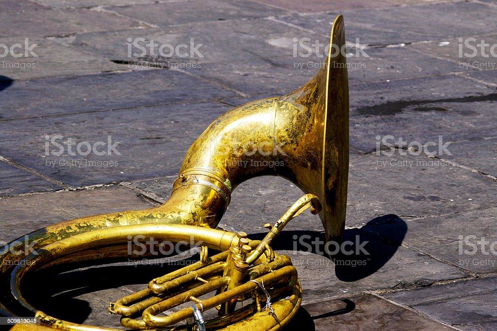 Quiet Tuba stock photo