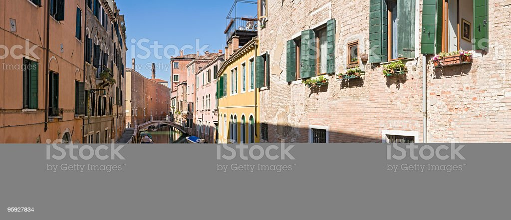 Quiet Venice colorful villas royalty-free stock photo