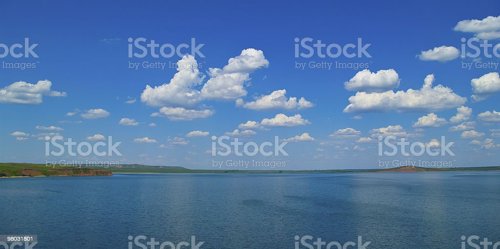 quiet water of lake royalty-free stock photo