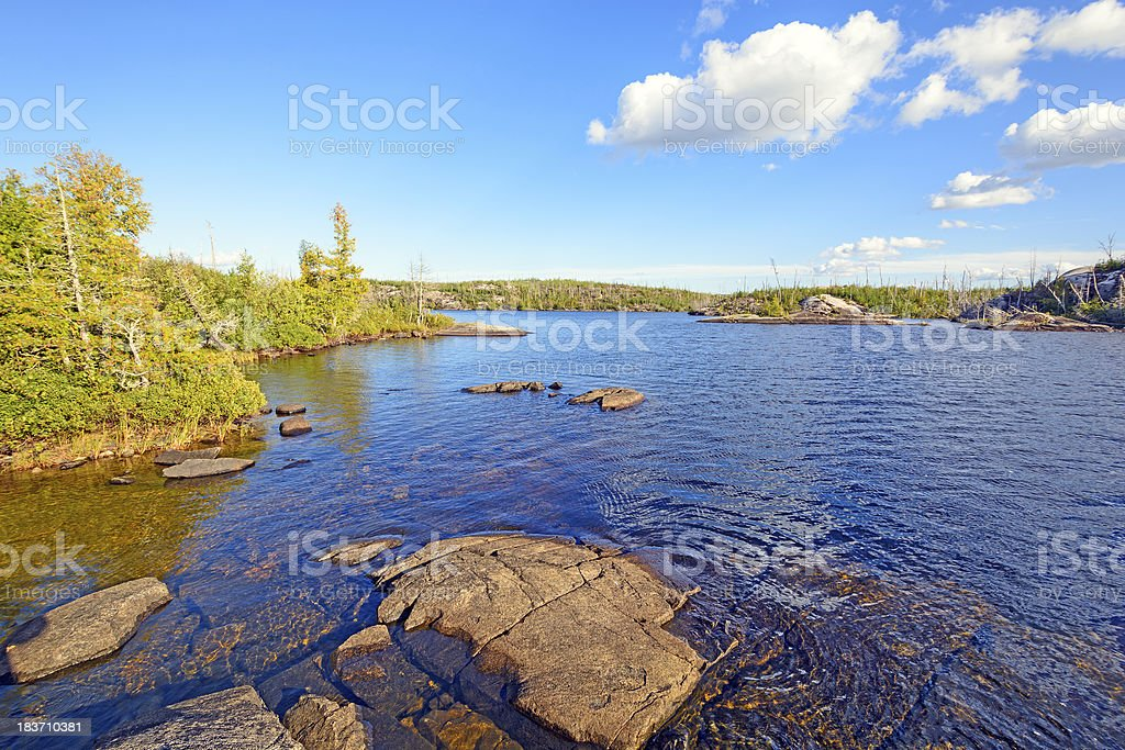 Quiet Waters in Canoe Country stock photo
