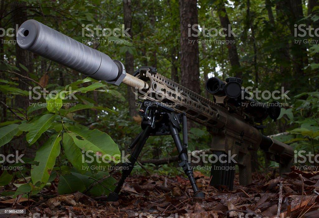 Quiet weapon stock photo