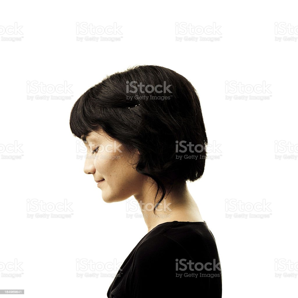 Quiet Young Woman stock photo
