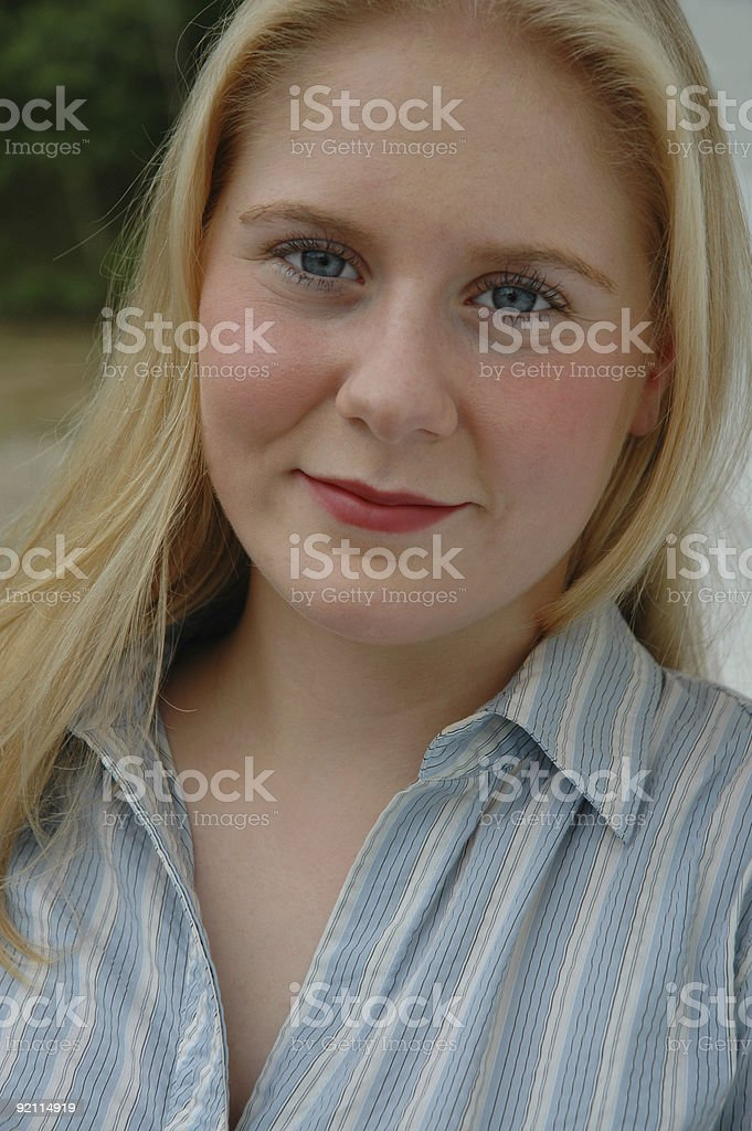 Quiet Young Woman royalty-free stock photo