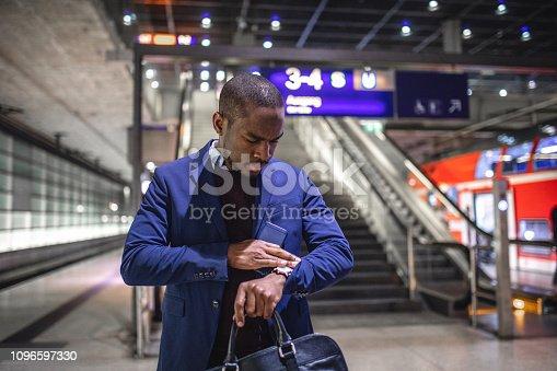 Successful young businessman enjoying his business trip to Berlin in winter season