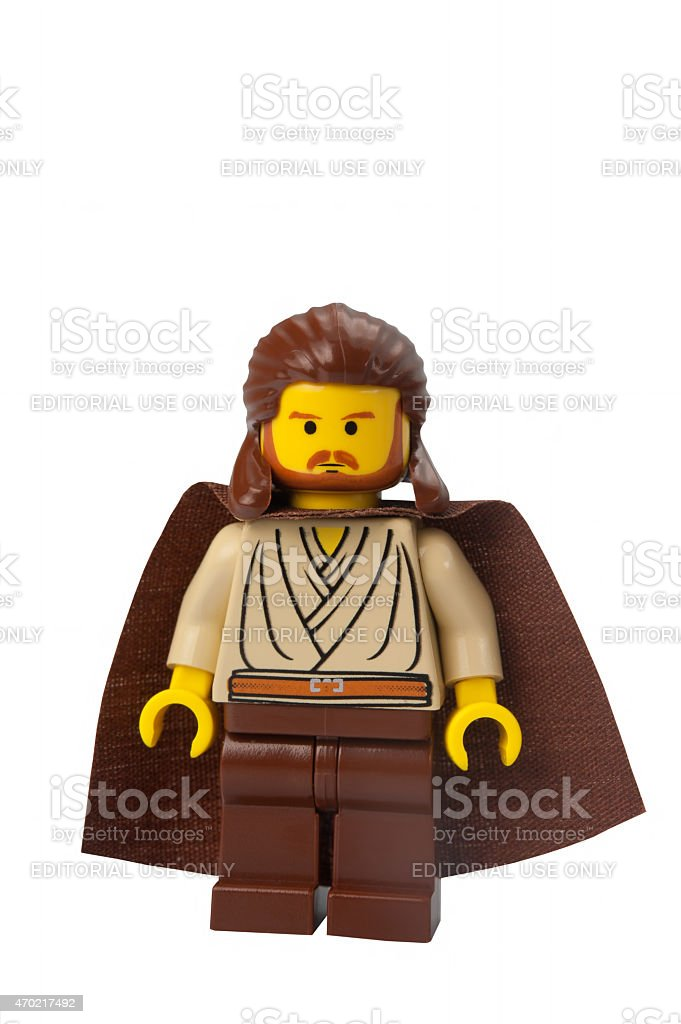 Qui-Gon Jinn Lego Minifigure stock photo