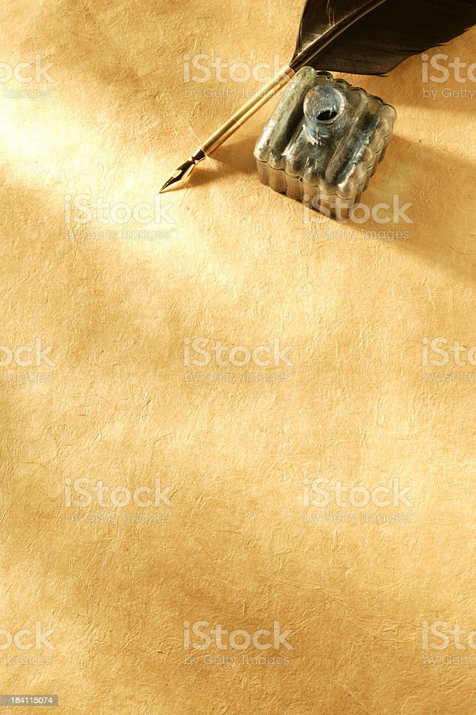 Quill & Inkwell stock photo