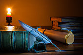 istock Quill pen and old papers 1063306184