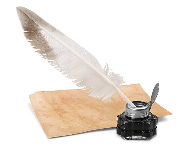 quill pen - ink well stock photos and pictures
