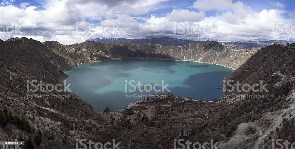 Quilotoa caldera stock photo