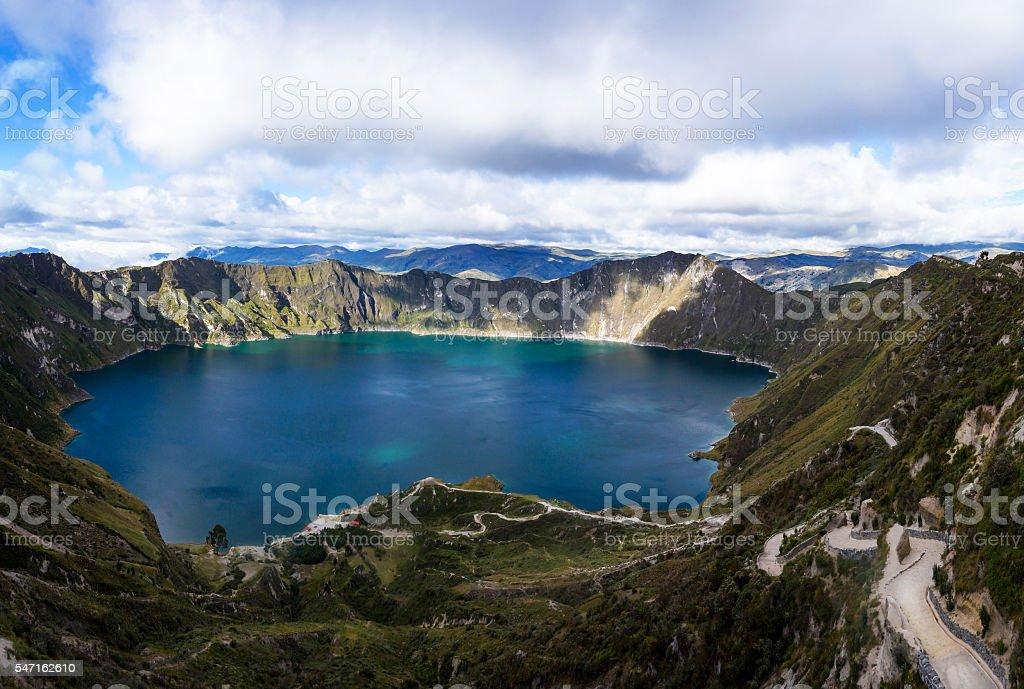 Quilotoa, Ecuador stock photo