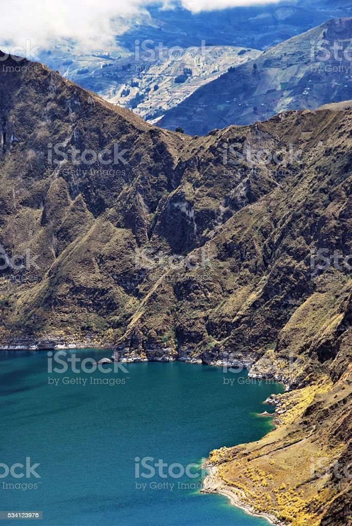 Quilotoa in Details stock photo