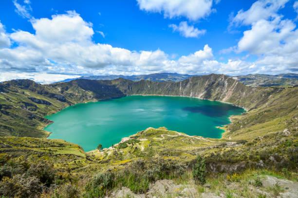 quilotoa 화산 - 에콰도르 뉴스 사진 이미지