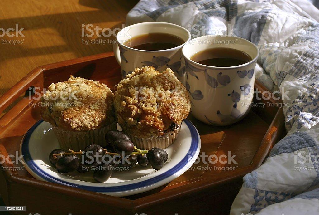 Quilt Breakfast Scene royalty-free stock photo