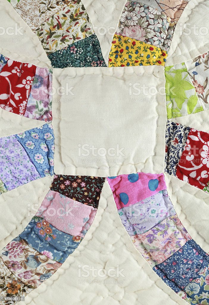Quilt Close Up royalty-free stock photo