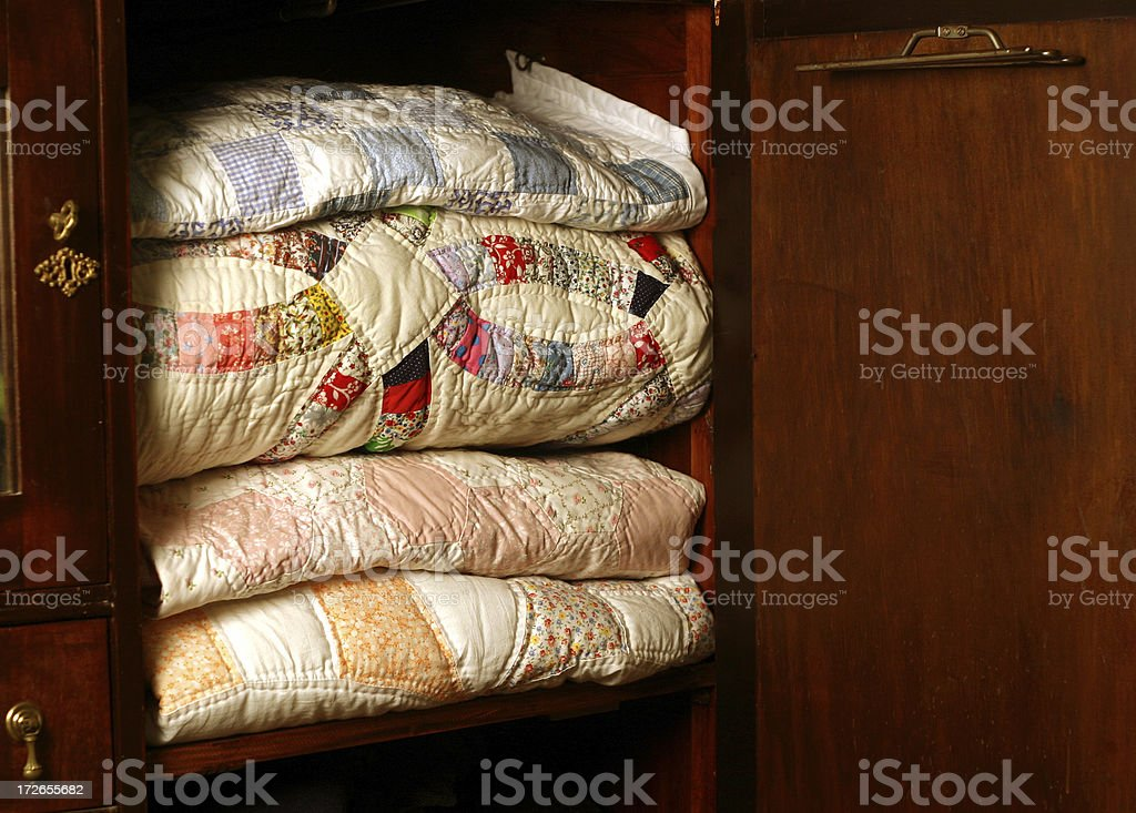 Quilt Closet royalty-free stock photo