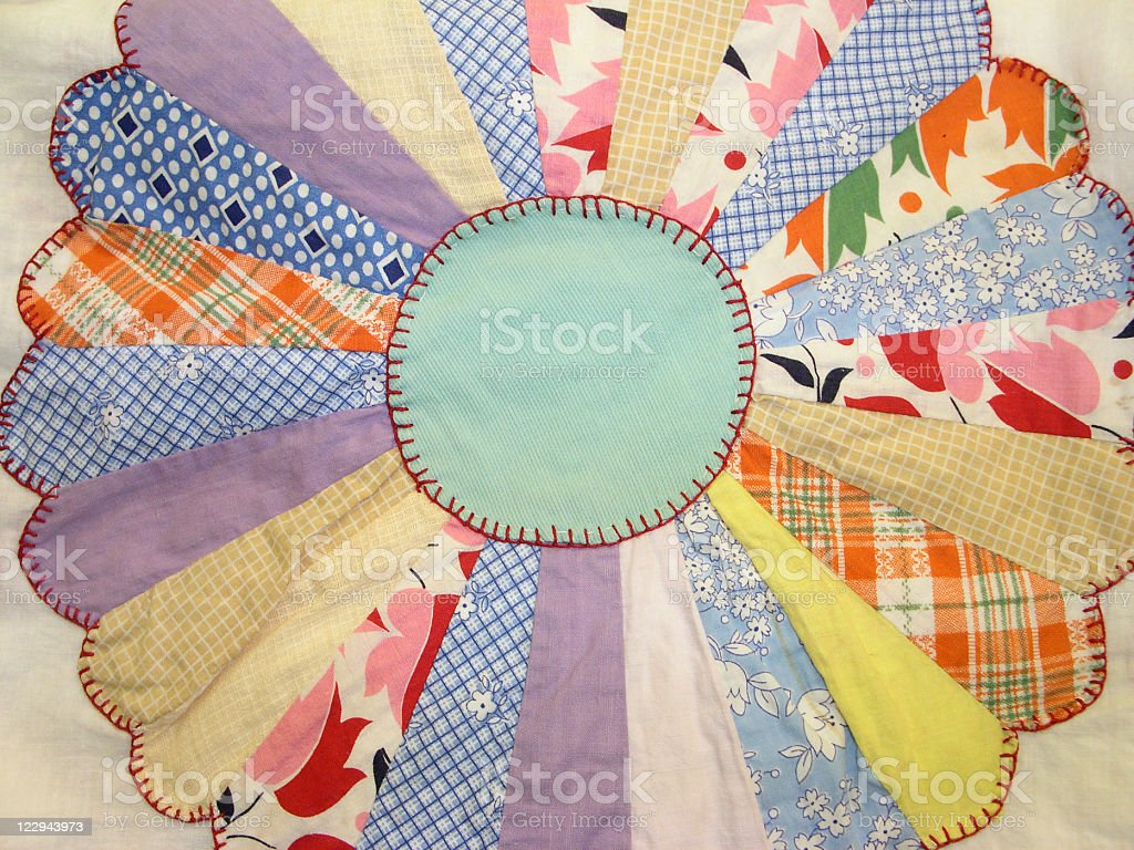 Quilt - Dresden Plate Pattern stock photo